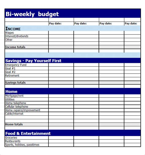 weekly budget templates format of monthly budget search results calendar 2015