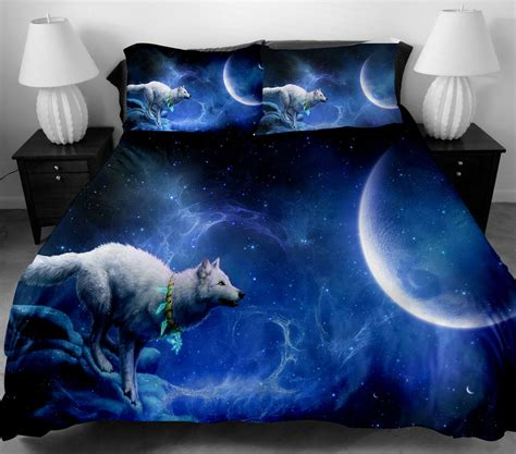 wolf comforter set 3d wolf bedding set twin full size duvet cover bed sheet