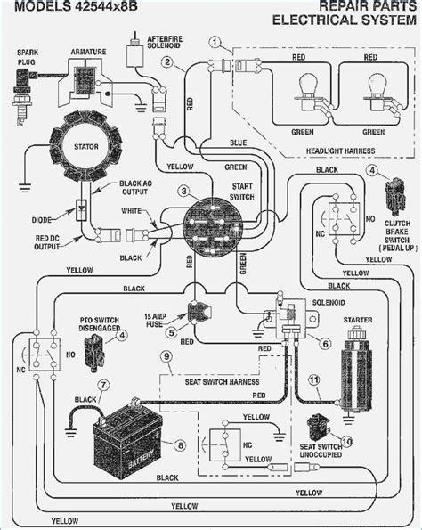 mtd starter solenoid wiring diagram cub cadet schematic
