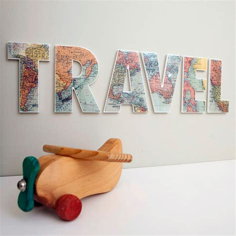 Travel Decor | travel decor letters wall feature inspirational word