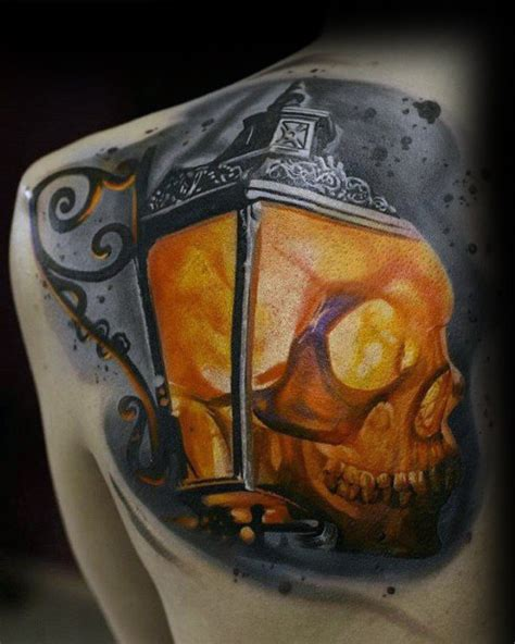 60 lantern tattoo designs for men flaming ink ideas
