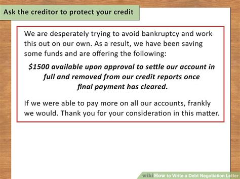 Negotiation Credit Letter How To Write A Debt Negotiation Letter With Pictures Wikihow