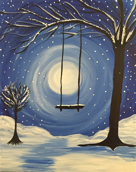whimsical acrylic painting ideas learn to paint whimsical winter