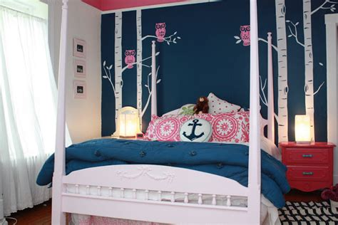 navy and pink bedroom makeover the navy and pink teen bedroom my old country