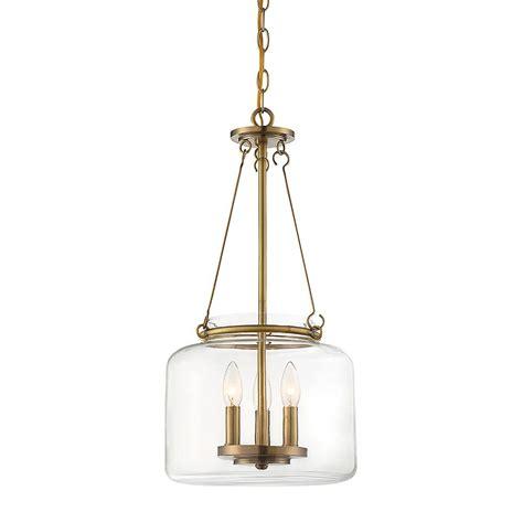 Filament Pendant Light Filament Design 3 Light Warm Brass Pendant Cli Sh265891 The Home Depot