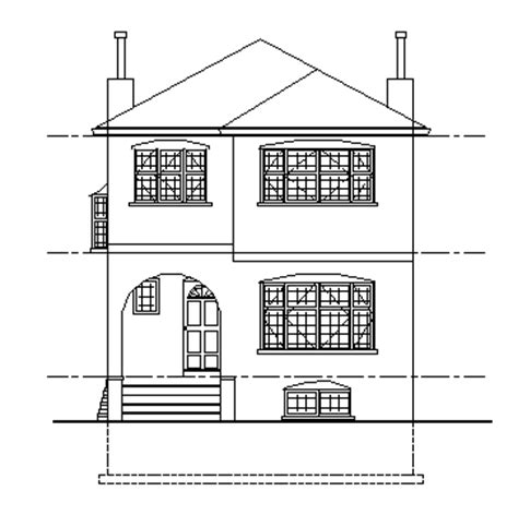 Drafting Symbols Building Plan And Front Elevation