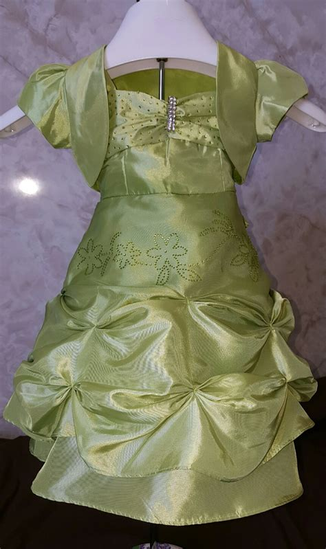Dress Rumbai Fk 52b Green wholesale baby clothes