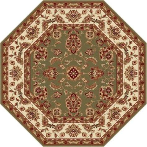 octagon rugs 5 tayse rugs sensation green 5 ft 3 in octagon transitional area rug 4805 green 6 octagon the