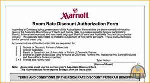 7 marriott room rate discount authorization form