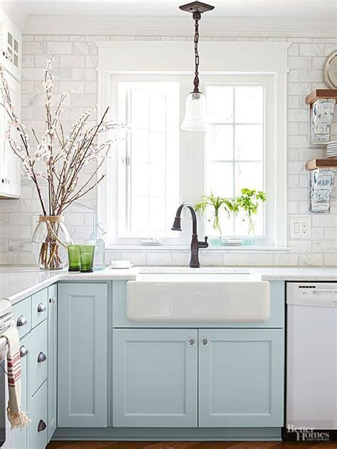 Cheap Farmhouse Decor by Cabinets Aqua Kitchen And How To Get On