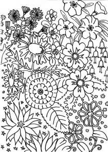 garden of coloring pages flower garden coloring pages to and print for free