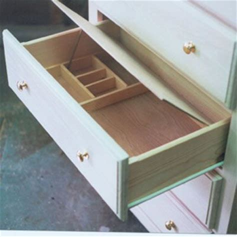 build false bottom drawer jewelry box plans with secret compartment woodworking