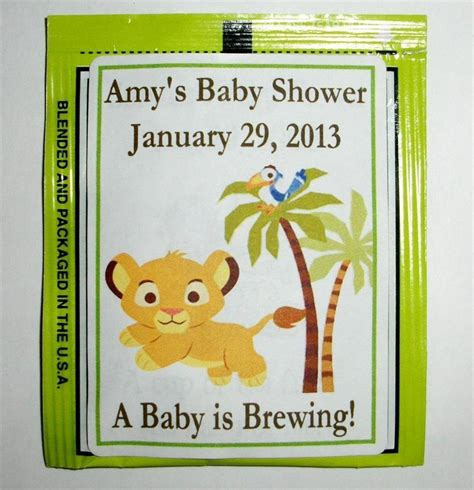 King Baby Shower by 30 Baby Simba King Baby Shower Tea Bag Labels Favors