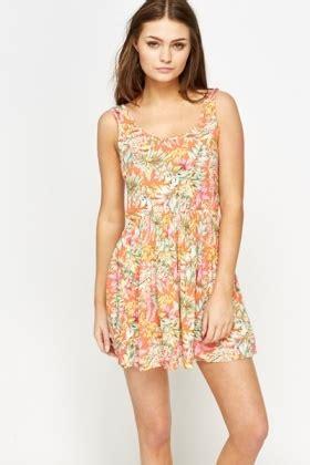 tropical print skater dress just £5
