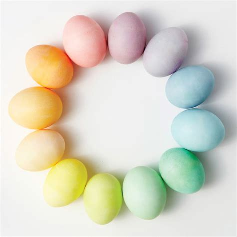 what are easter colors easter egg dyeing color wheels martha stewart