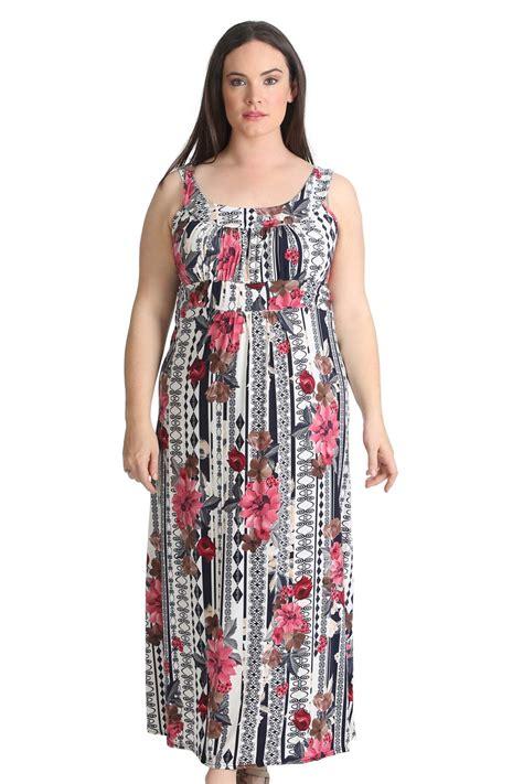 Flower Dress Sale2302 new plus size maxi dress floral print womens sale