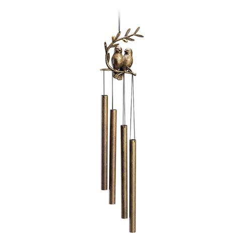 Spi Home Decor spi bird pair tube wind chime 34226