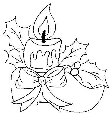 candele natalizie da colorare disegno candele natale numero 2 da stare e colorare