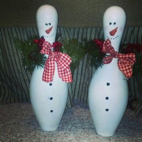 bowling pin craft projects bowling pin snowmen craft ideas