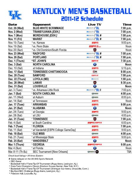 uk basketball schedule spread download university of ky basketball game schedule free
