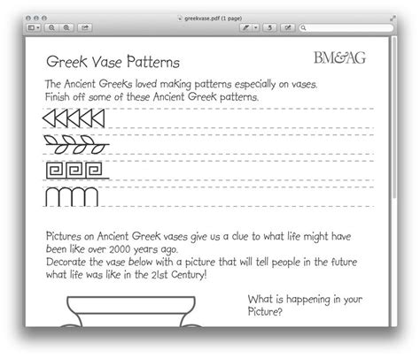 Ancient Greece Worksheet by Pottery And Patterns Worksheet Ancient Greece