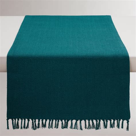 Teal Table Runners by Teal Herringbone Table Runner World Market