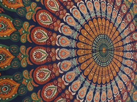 Cynthia Rowley Home Decor Collection by Queen Size Indian Tapestry Bedding Hippie Mandala Wall
