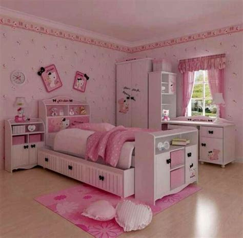 hello kitty bedroom design home design ideas comfortable girls bedroom decorating ideas with hello
