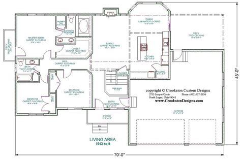 floor plan main is 6900sq crookston designs picture