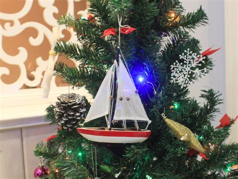 buy wooden usa sailboat model christmas tree ornament 9