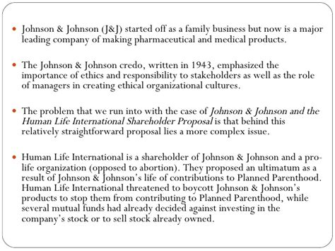 Mba Leadership Ethics Cornell by Johnson Johnson Study Business Ethics How To Choose