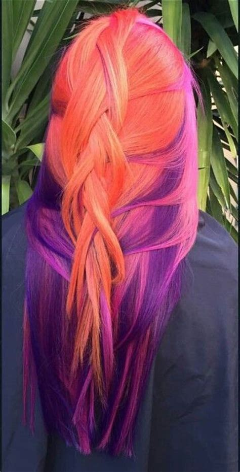 dyed hairstyles for brunettes 1000 ideas about orange hair colors on pinterest burnt