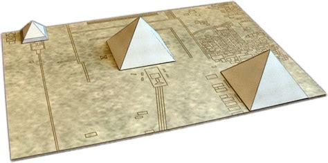 Papercraft Pyramid - giza necropolis