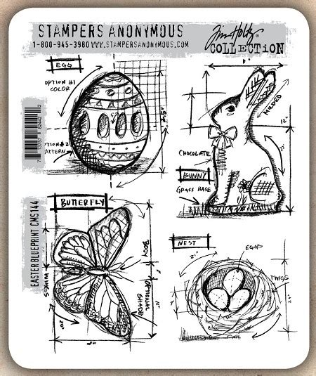 rubber number st tim holtz cling rubber st set easter blueprint