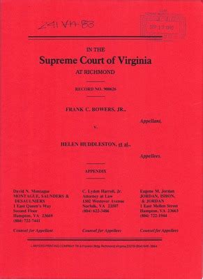 Court Records Virginia Virginia Supreme Court Records Volume 241 Virginia