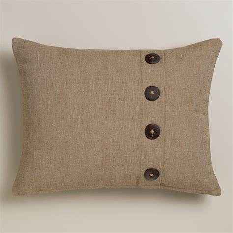 Pillows With Buttons by Ribbed Lumbar Pillow With Buttons World Market