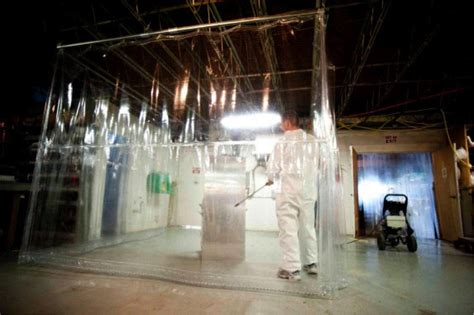 chemical curtains avoiding splash dangers with chemical safety curtains