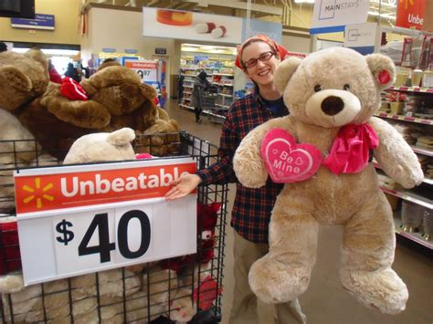 big valentines walmart happy s day from a priced teddy