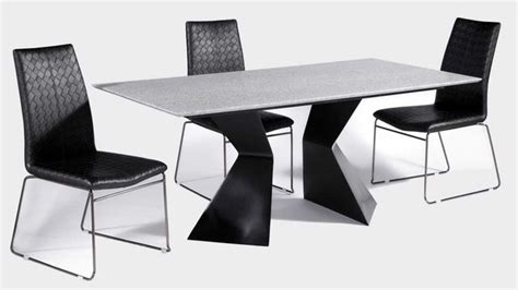 rectangular leather dinner table and chairs