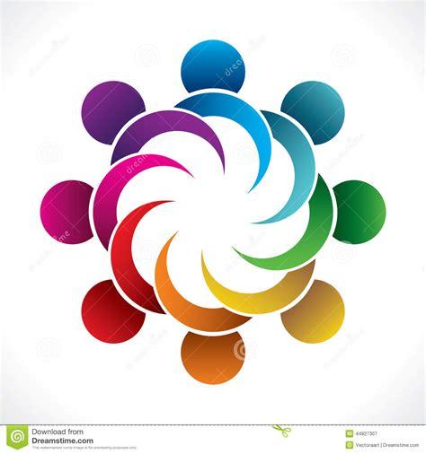 design concept unity colorful teamwork or unity design concept stock vector