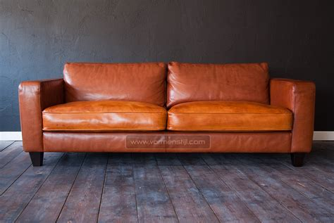 thick leather sofa linteloo machalke design sofa in thick waxed bull leather