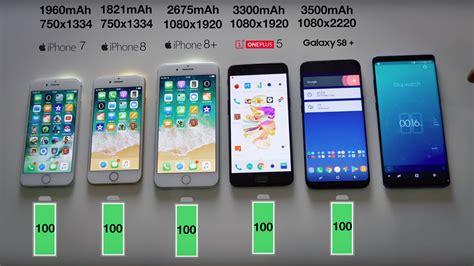 iphone 8 galaxy s8 ve oneplus 5 pil testinde karşı karşıya log