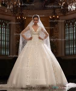 sparkly ivory v neck crystal organza ball gown fall