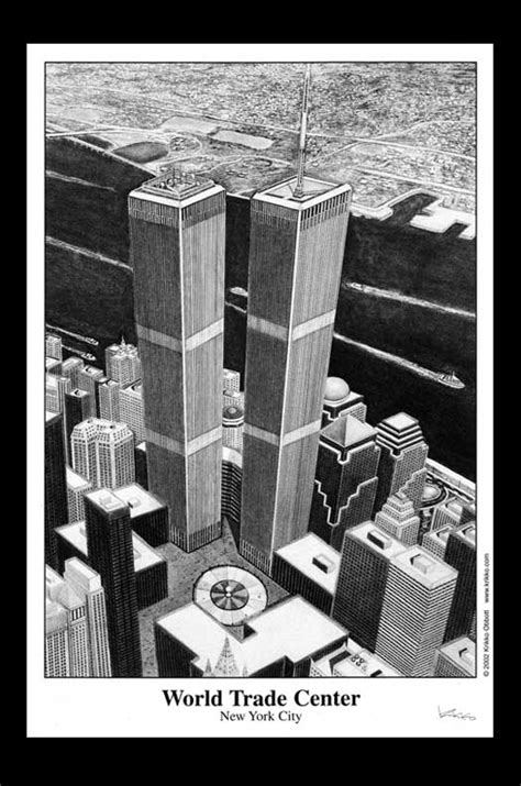 coloring pages of world trade center twin towers black and white drawing