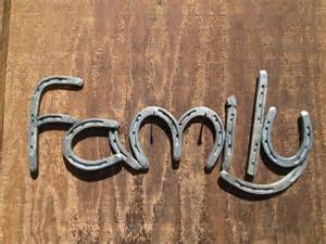 Horseshoe Decorations For Home by Horseshoe Family Sign Rustic Home Decor By Rusticandcountry