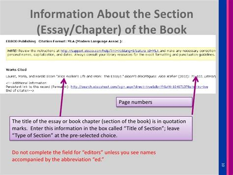 reference to book chapter how to cite a book chapter essay from ebscohost literary