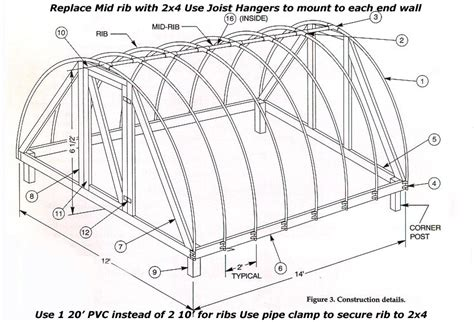 house plans with greenhouse hoop house plans smalltowndjs com