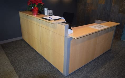 Haworth Reception Desk Haworth Maple Reception Desk Tri Systems Inc