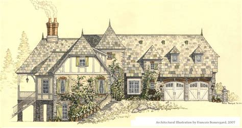 Tudor House Elevations by French Style House By Built4ever On Deviantart