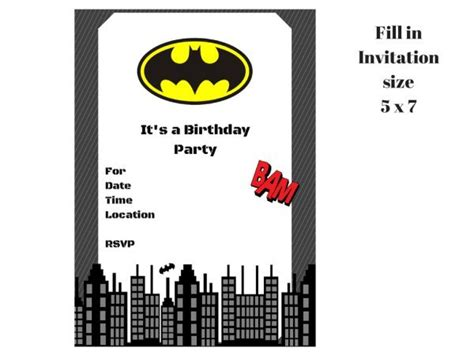 printable birthday invitations batman batman invitation magical printable
